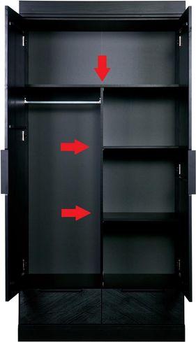 Interieurpakket Connect Geen Kast 2 Planken Zwart Woood